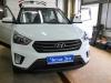Hyundai Creta ustanovka datchikov parkovki, kameri zadnego vida, salonnogo zerkala s monitorom, signalizacii StarLine A93