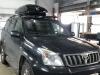Ustanovka bagajnika Wingbar Edgi 9585, boksa Motion 800 na Toyota Land Cruiser Prado 120