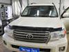 Ustanovka videoregistratora, zamka na KPP i kapot Toyota Land Cruiser 200