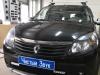 Установка защитной сетки в бампер на Renault Sandero
