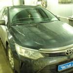 Ustanovka mehanicheskoi zashitu na KPP i Rulevoi val Toyota  Camry  (5)