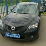 Установка датчиков парковки на ам Mazda. (1)