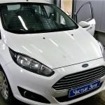 Установка сигнализации с автозапуском на ам Ford Fiesta. (4)