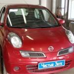 Установка  коаксиальных динамиков на ам Nissan Micra. (1)