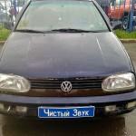 Установка сабвуфера и динамиков на ам Volkswagen Golf II. (1)