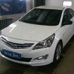 Установка сигнализации StarLine с автозапуском на ам Hyundai Solaris.