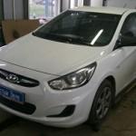Установка сигнализации SCHER-KHAN Magicar 10 на ам Hyundai Solaris. (1)