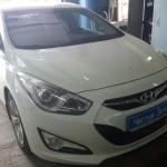 Установка сигнализации с автозапуском на ам Hyundai i40. (1)