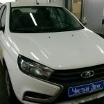 Установка коаксиальных динамиков и головного устройства на ам Lada Vesta.  (1)