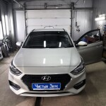 Установка парктроника на Hyundai Solaris (1)