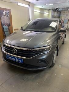 установка датчиков парковки на Volkswagen polo 1