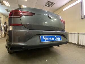 установка датчиков парковки на Volkswagen polo 3