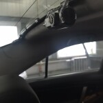 установка камеры на стелко на Toyota camry 1
