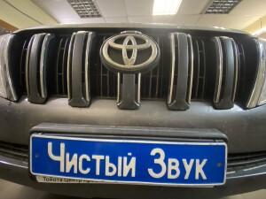установка сетки в бампер на Toyota LC Prado 150 4