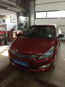установка сигнализации на Hyundai Solaris 1