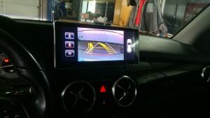установка камеры заднего вида на Mercedes GLK 2