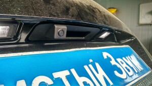 установка камеры заднего вида на Mercedes GLK 4