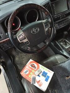 установка сигнализации на Toyota LC 200 2