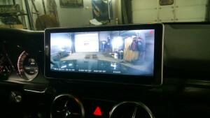 установка видеорегистратора на Mercedes GLK 1