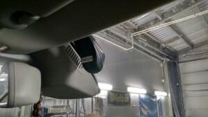установка видеорегистратора на Mercedes GLK 2