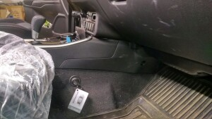 установка замка на кпп Mitsubishi Outlander 2