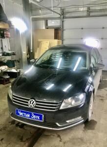 Установка усилителя на Volkswagen Passat 2