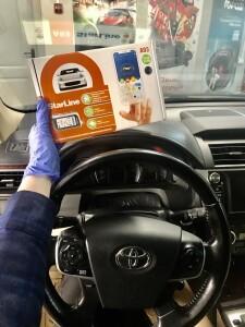 становка сигнализации на Toyota Camry 2