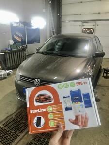 установка сигнализации Volkswagen Polo 2
