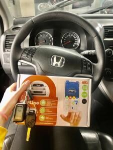 установка сигнализации на Honda CR-V 2