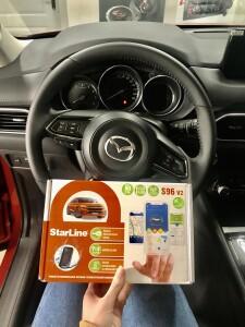установка сигнализации на Mazda CX 5 2