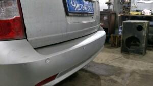 Chevrolet Lacetti установка парктроников 4