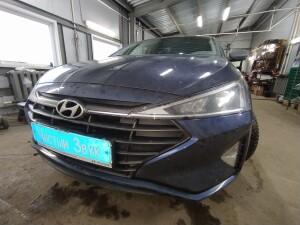 Hyundai Elantra установка звуковых сигналов 1