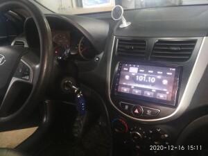 Hyundai Solaris установка музыки 2
