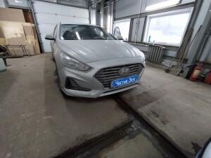Hyundai Sonata установка сигнализации 1