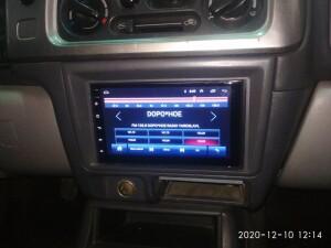 Mitsubishi Pajero установка магнитолы 3