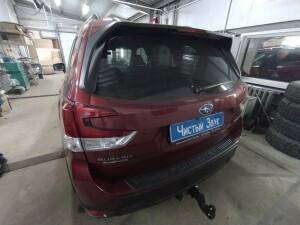 Subaru Forester установка фаркопа 1