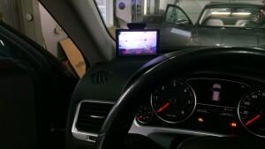 установка камеры заднего вида VW Taureg 2