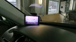 установка камеры заднего вида VW Taureg 3