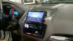 установка камеры заднего вида на Chevrolet Cobalt 1