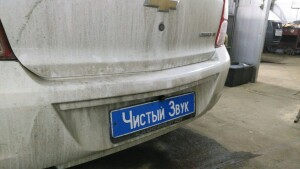 установка камеры заднего вида на Chevrolet Cobalt 3