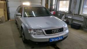 установка магнитолы Audi A6 1
