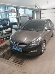 установка сигнализации Hyundai Solaris 1