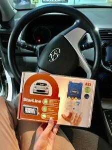 установка сигнализации Hyundai Solaris й