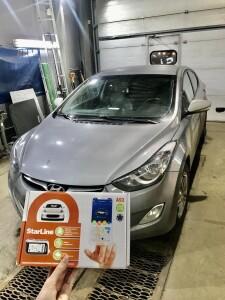 установка сигнализации на Hyundai Elantra 1
