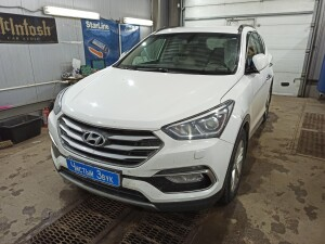 Hyundai SantaFe установка сигнализации 1
