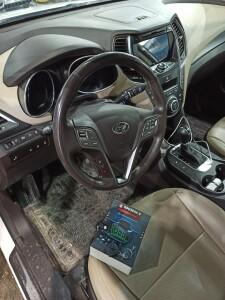 Hyundai SantaFe установка сигнализации 2
