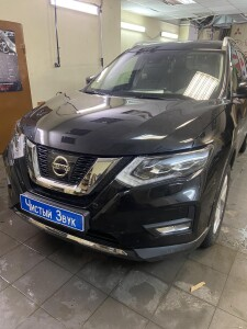 Nissan X-Trail бронирование+сетка в бампер 1