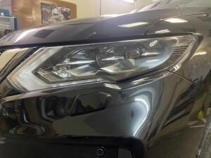 Nissan X-Trail бронирование+сетка в бампер 3