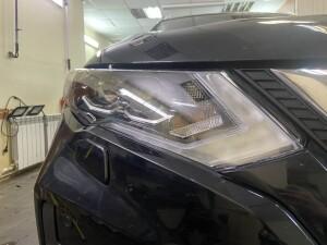 Nissan X-Trail бронирование+сетка в бампер 5