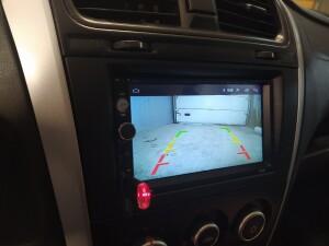 Datsun On-Do установка камеры заднего вида 3